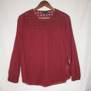 J. Crew Embroidered Gauze Top